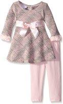 Bonnie Baby Baby-Girls Boucle Knit Skater Playwear Set
