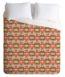 Deny Designs Holli Zollinger Otali Pink King Duvet Set Bedding