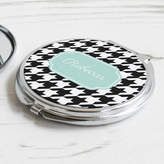 We Love To Create Personalised Houndstooth Compact Mirror