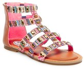 Stevies Girls' #FROOTIE Embellished Gladiator Sandals - Multi-Colored