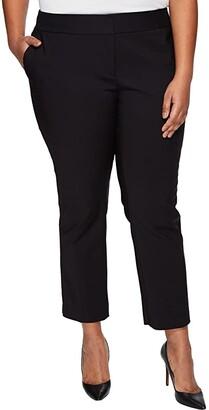 Vince Camuto Plus Size Front Zip Ankle Pants (Rich Black) Women's Casual Pants