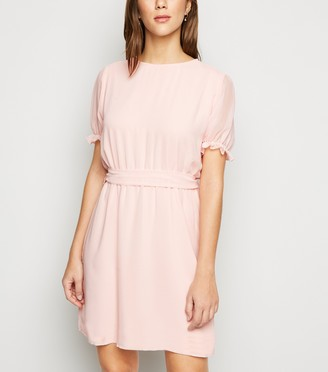 New Look NA-KD Puff Sleeve Chiffon Dress