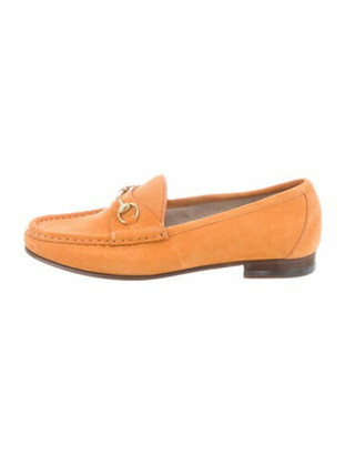 Gucci 1953 Horsebit Accent Loafers Yellow