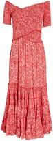 Poupette St Barth Soledad Smocked Floral Jersey Dress