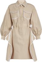 Fendi Striped cotton-blend dress