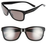 Oakley Women's 'Forehand(TM) Prizm(TM) Daily' 57Mm Polarized Sunglasses - Black/ Daily Prizm Polar