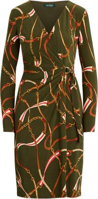 Ralph Lauren Print Wrap-Style Dress
