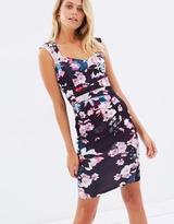 Lipsy Printed Sweetheart Body-Con Dress