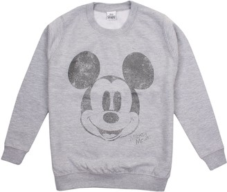 Disney Girl's Mickey Mouse Metallic Face Sweatshirt