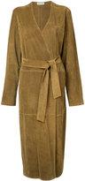 Attico - oversized leather coat - women - Calf Leather - 4