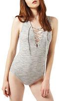Miss Selfridge Lace-Up Bodysuit