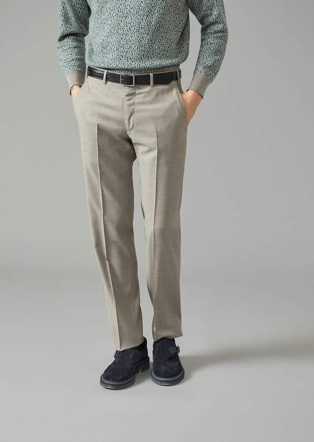 Giorgio Armani Trousers In Virgil Wool