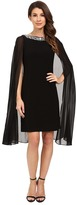 Adrianna Papell Jersey Beaded Cape Dress