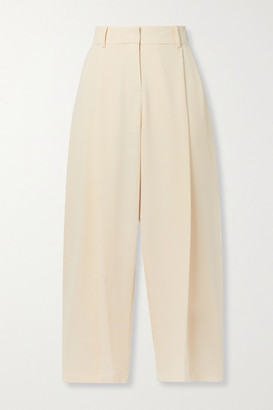 See by Chloe Cropped Pleated Crepe Pants - Cream