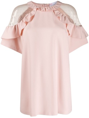 RED Valentino Tulle Insert Blouse