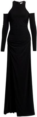 Cinq à Sept Rosalina Cold-Shoulder Jersey Gown