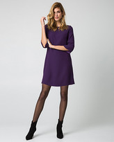 Le Château Crêpe de Chine Boat Neck Tunic Dress