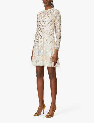 Needle And Thread Sequin Diamond mini dress