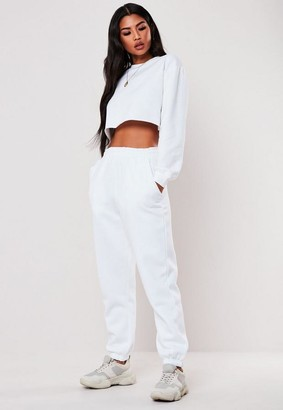 Missguided White Oversized Joggers