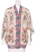 Anna Sui Sleeveless Printed Kimono w/ Tags