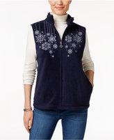 Karen Scott Petite Embroidered Vest, Only at Macy's