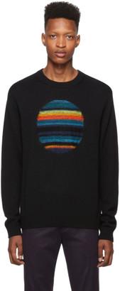 Paul Smith Black Intarsia Horizon Sweater