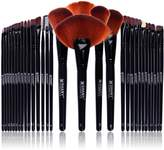 SHANY Cosmetics SHANY Professional Brush Set with Leather-Look Pouch, Goat & Badger