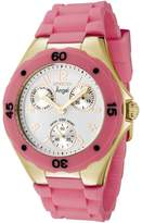Invicta Women's Angel Collection 0707 Pink Rubber Quartz Watch with Dial