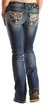 Miss Me Women's Embellished Wing Boot Cut Jean