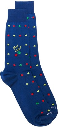 Etro Four-Leaf Clover Socks