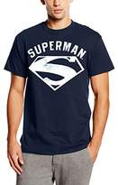 DC Comics Men's Superman Logo Spray T-Shirt
