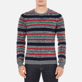 Carven Men's Striped Crew Neck Jumper Multicolore