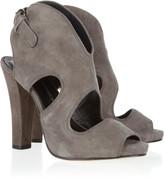 Demure cutout suede sandals