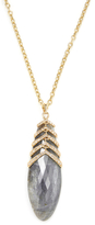 Maiyet 18K Yellow Gold, Labradorite & 1.39 Total Ct. Diamond Ribcage Pendant Necklace