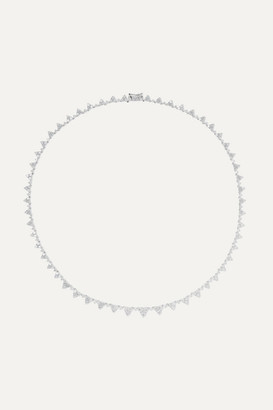 Anita Ko Triangle Eternity 18-karat White Gold Diamond Choker - one size