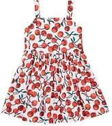 Milly Kids' Emaline Cherry-Print Stretch-Cotton Dress