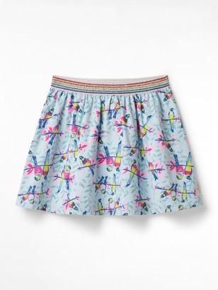 White Stuff Parrots Jersey Skirt