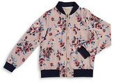 Monteau Girls 7-16 Floral Bomber Jacket