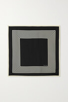 Thumbnail for your product : LESCARF No. 2 Striped Silk-twill Scarf - Black