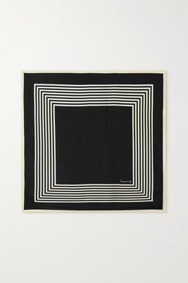 LESCARF No. 2 Striped Silk-twill Scarf - Black