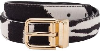Dolce & Gabbana Zebra Belt