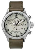 Timex R Waterbury Chronograph Leather Strap Watch, 42mm