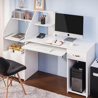 Inbox Zero Computer Desk Color: White