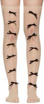 Gucci Beige Moulinoir Bow Socks