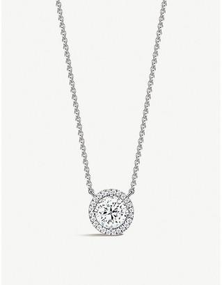 Vashi Halo 18k white-gold and 0.25ct diamond necklace