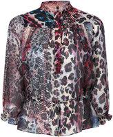 Just Cavalli button up printed blouse - women - Silk/Viscose - 40