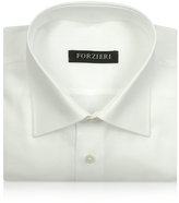Forzieri Marcus Line - Solid White Oxford Cotton Dress Shirt