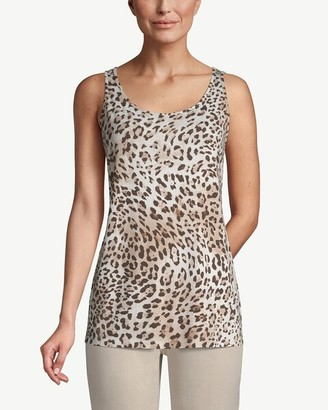 Chico's Animal-Print Sleeveless Tank Top