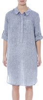 Jump 3/4 Tab Slv Linen Dress