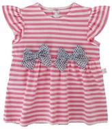 Il Gufo Stripe Jersey Tee with Bows